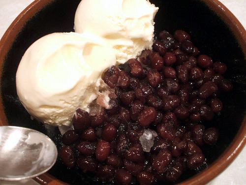 バニラアイスと小豆