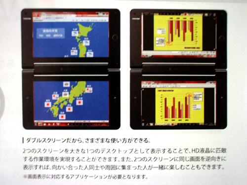 ダブルスクリーンの使用法