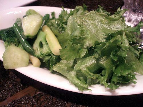 緑野菜のサラダ