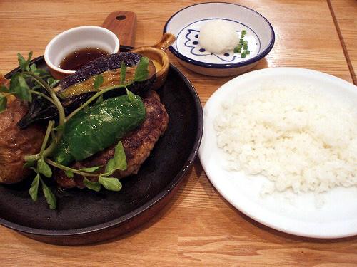 夏野菜たっぷり和風ハンブルグステーキ