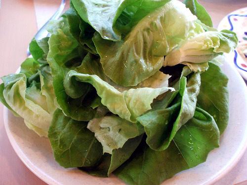 山盛りのサラダ菜