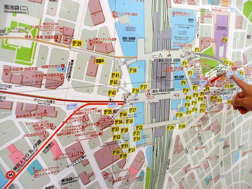 池袋駅周辺の地図