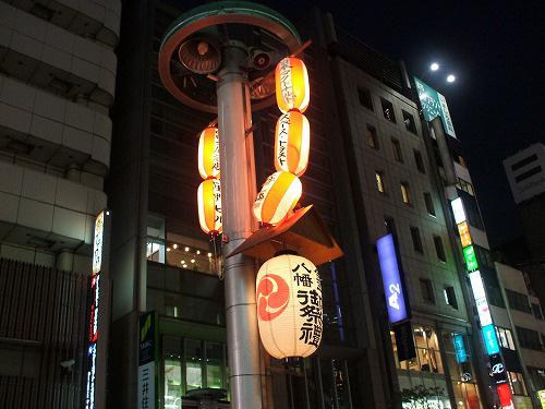 街灯に飾られた提灯