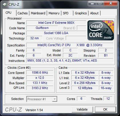 CPU-Z HPE 290jp のプロセッサ情報