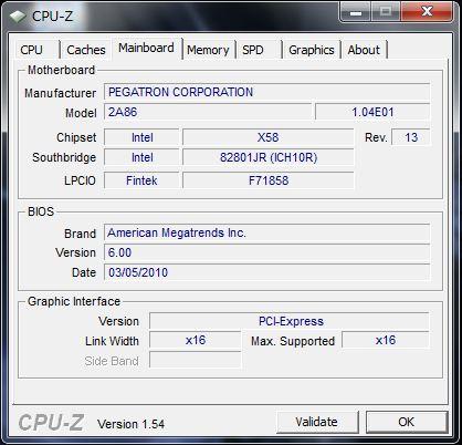 CPU-Z HPE 290jp のマザーボード