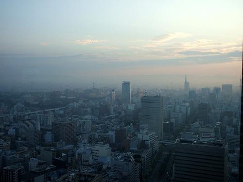 マリオットアソシアホテルからの朝の風景