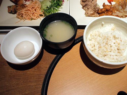 五穀米にコムタンスープ