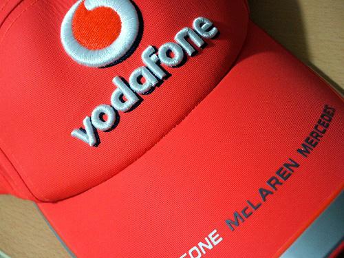ボーダフォンマクラーレンメルセデスの帽子