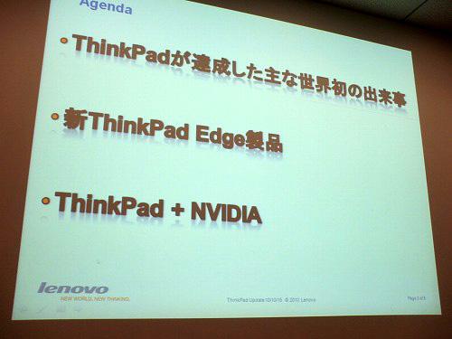 Thinkpadの生い立ちや新製品について