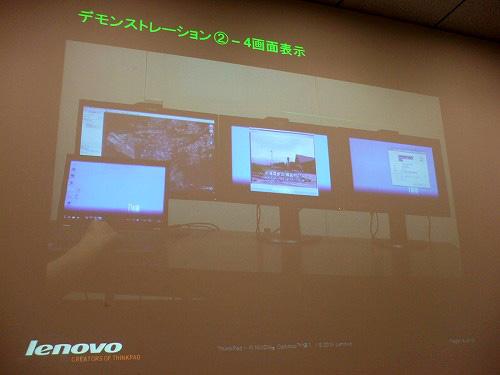 4画面表示のデモ映像