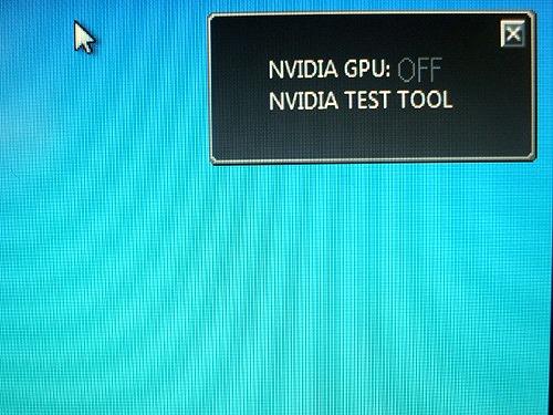 NVIDIA GPUはオフ