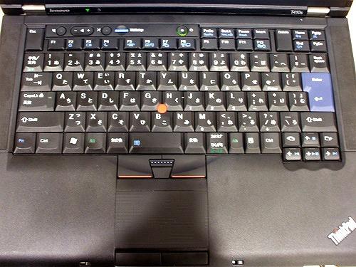 ThinkPad 7段配列のキーボード