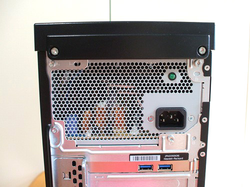 HPE 390jp 背面上部