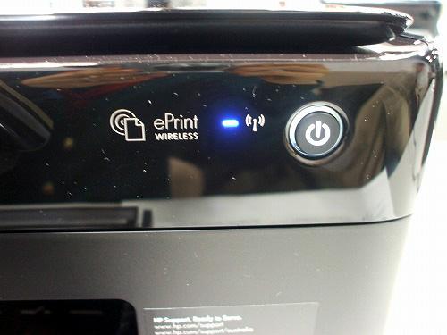 HP C310c  無線LANのランプ