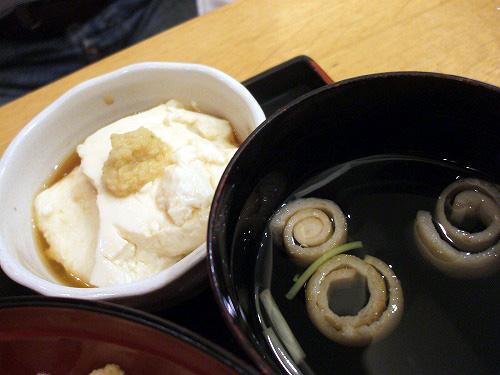豆腐にお吸い物
