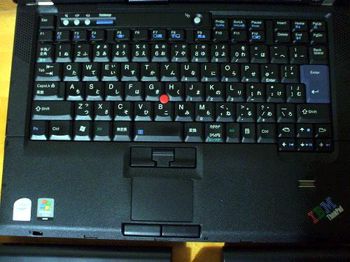 Thinkpad T61のキーボード