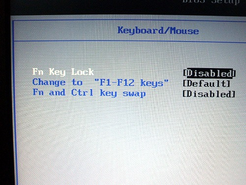 """Edge 11"""" BIOSのキーボード設定"""