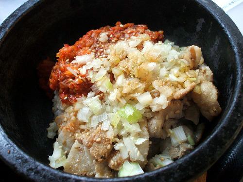 ミニ石焼きネギ塩カルビご飯