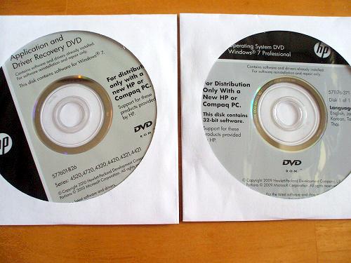 ProBook 4720s のリカバリメディア