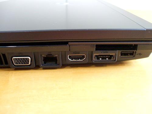 ProBook 4720s 左側面各種ポート類