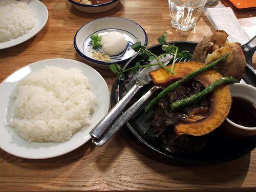 秋野菜の和風ハンブルグステーキ