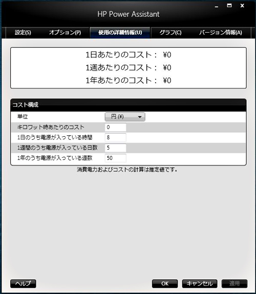 HP Power Assistant コスト構成