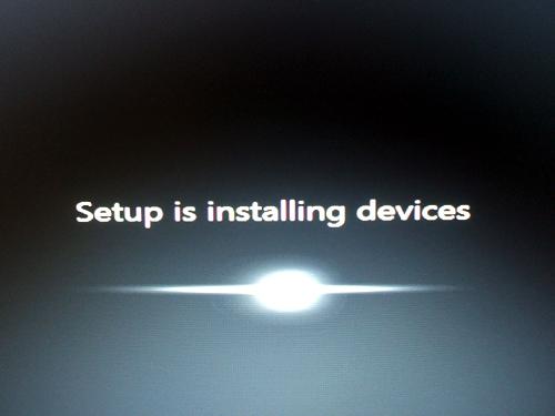 ProBook 4720s デバイスのインストール中