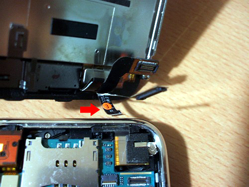 IPhone液晶接続部