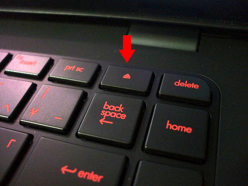 HP ENVY14 キーボード上のイジェクトボタン