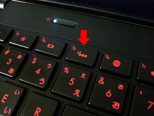 HP ENVY14 キーボードライトボタン