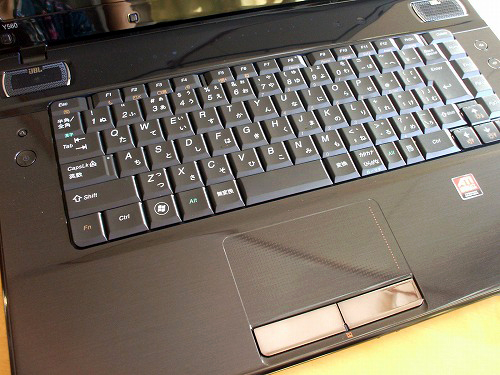 Y560のキーボード