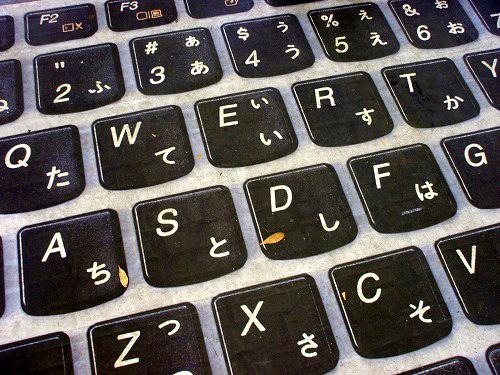 IdeaPad広告のキーボード