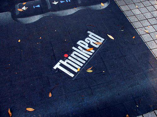 Thinkpad広告のパームレスト