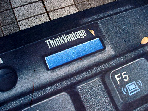 Thinkpad広告のThinkVantageボタン