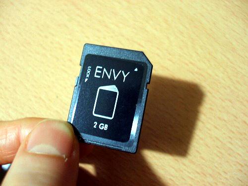 HP ENVY14 付属のメモリーカード
