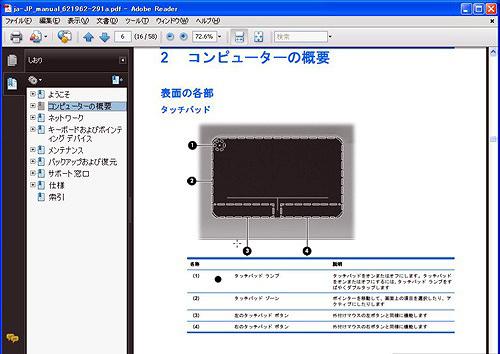HP ENVY14 コンピューターの概要