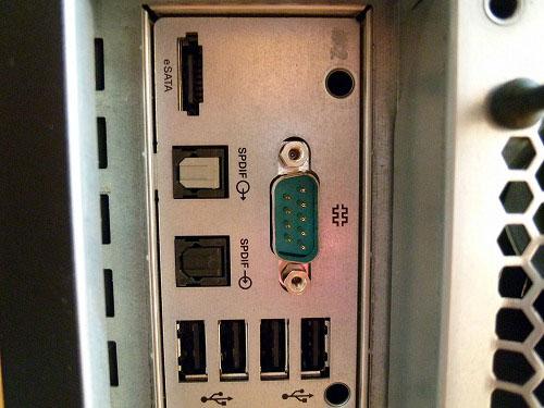 ThinkStation S20 背面中央部のポート類