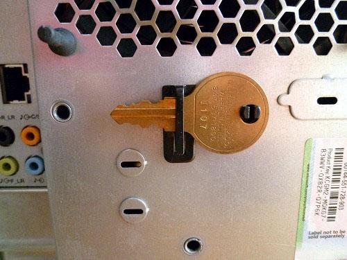 ThinkStation S20 側面カバーの鍵