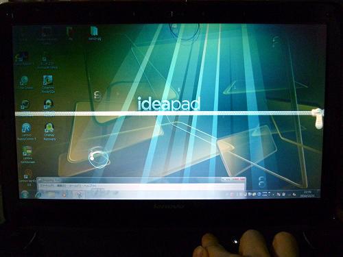 IdeaPad Y560 ファスナーが閉じた状態