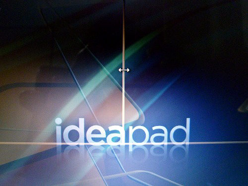 IdeaPad Y560 分割画面境界線の移動