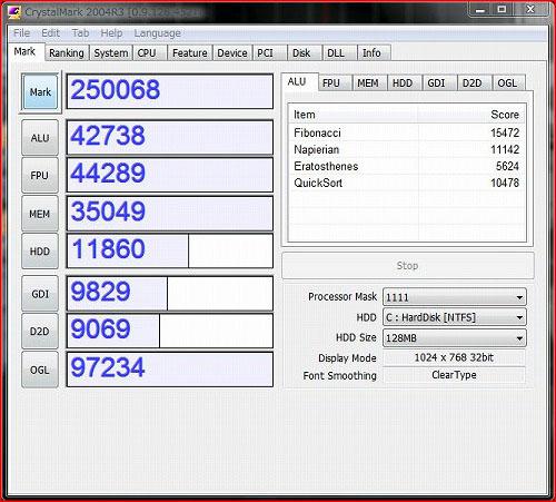 ThinkStation S20 CrystalMark 2004R3のベンチスコア