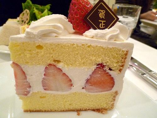 ショートケーキ側面