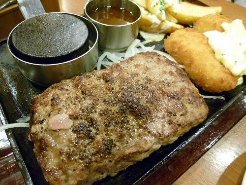 知人のハンバーグステーキ