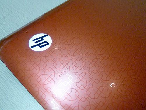 天板のHPロゴ