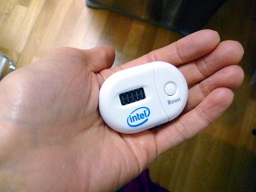 インテルの万歩計 before