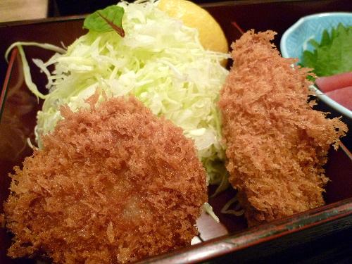牡蠣フライとヒレ一口かつ
