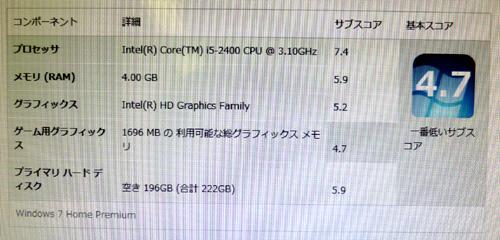 s5750jpのエクスペリエンス・インデックス