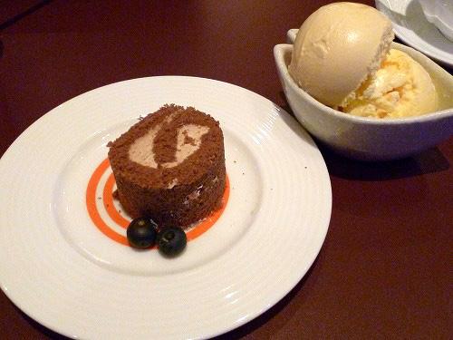 アイスとケーキ