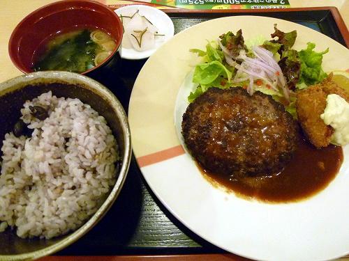 ハンバーグ&広島県産かきフライセット