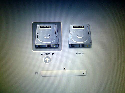 Mac OS の選択